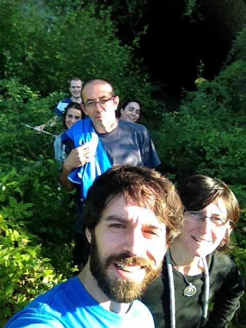 a selfie taken on one of our English Immersion course walks by a student